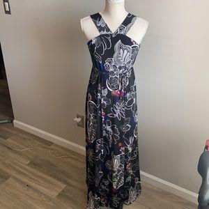Motherhood Maternity Floral Halter Maxi Dress EUC